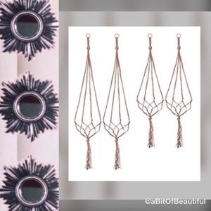 ✔️Out🆕Item • (4) Macrame Plant Hangers